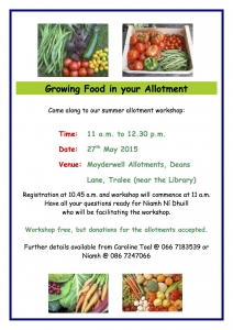 Growing Food in your Allotment poster