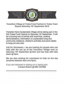 Transition Kerry Sustainable Village 19th September 2015