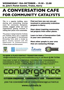 Take part in a conversation cafe on community catalysts
